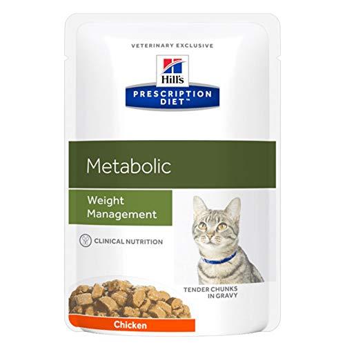 Hill´s Prescription Diet Feline Metabolic Advanced Weight Solution Huhn Frischebeutel , Option:12 x 85 gr Frischebeutel
