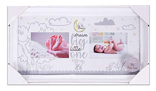 """Doppel-Bilderrahmen für Babys, mit niedlichem """"Dream Big Little One""""-Thema."""