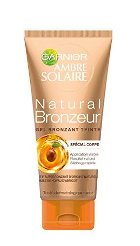 GARNIER - Gel Autobronzant - Natural Bronzeur - Teinté Nacres Dorées - 150ml