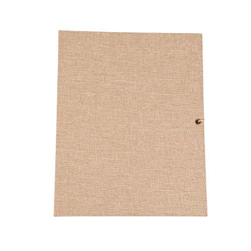 Hongzer Scrapbook, álbum de álbuns de recortes de 30 páginas de linho criativo faça-você-mesmo, folha solta simples com alça de corda, álbum vintage, álbum de recortes com página preta para viagem de aniversário de casamento (marrom)