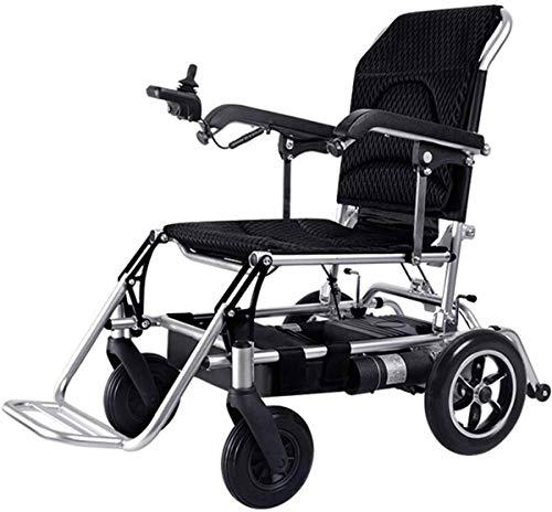Silla de ruedas eléctrica Sillón portátil silla de ruedas eléctrica Silla de ruedas eléctrica, aleación de aluminio médico de viaje en silla de ruedas, el coche o el uso de energía eléctrica como una