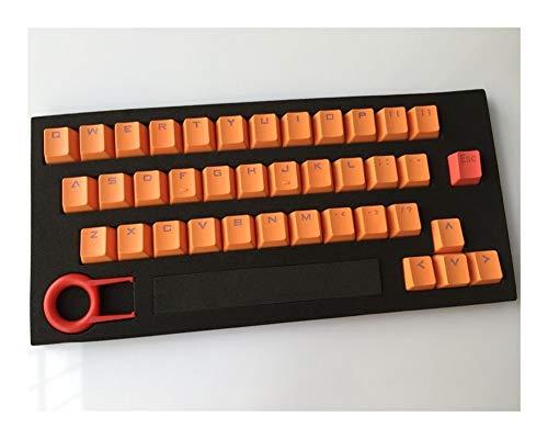 YEZIO Keycaps für Keyboards Keycap Beleuchtung PBT 37 Tasten Plus ESC Double Shot translucidus Backlit Keycaps for mechanischen Gaming Keyboard Universal (Color : Orange)