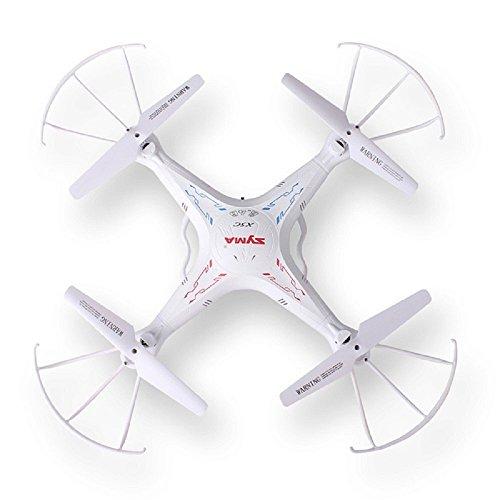 Syma X5C Explorers 2.4G 4CH RC Quadcopter con Girosco/Flash Lights, A 360 Gradi Elicotteri 3D con HD Camera, Bianco