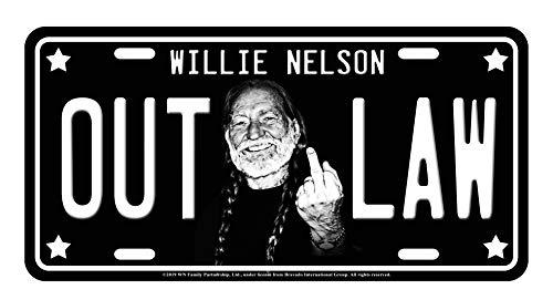 Midsouth Products Willie Nelson Nummernschild – Mittelfinger