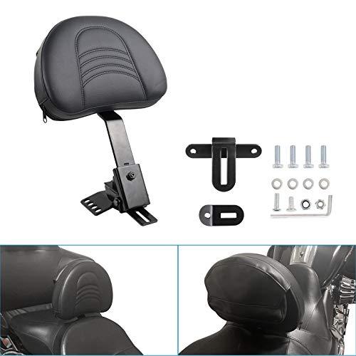 KOLEMO Black Adjustable Plug-in Driver Rider Backrest Custom Fit For 1997-2020 Touring Models Road King,Street Glide,Road Glide,Electra Glide