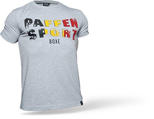 Paffen Sport Vintage Logo NATIONAL T-Shirt; grau/schwarz/gelb/rot; GR: M
