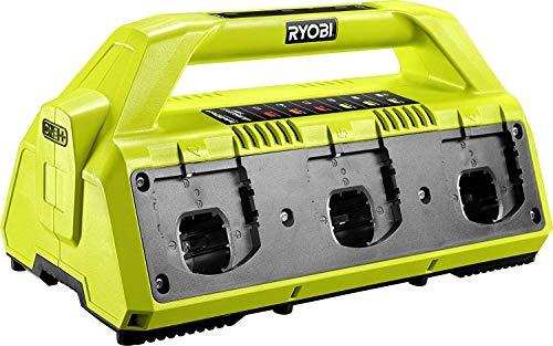 Ryobi Akku-Ladegerät 18 V RC18627 (platzsparende Ladestation für bis zu 6 Akku, für ONE+ 18 V Lithium Akkus) 5133002630