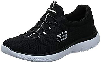 Skechers womens Summits Sneaker Black/White 8 US
