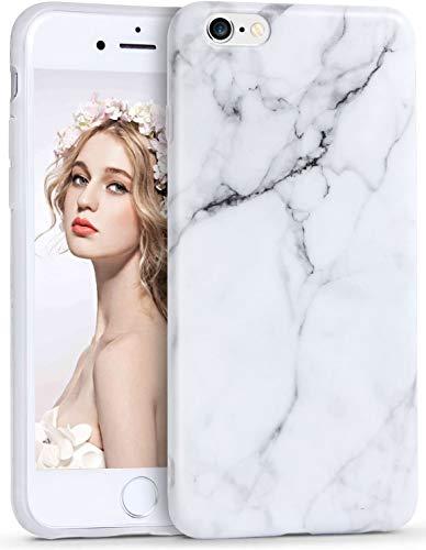 Imikoko® Marmor Hülle für iPhone 6/6s Hülle Matt Weich Silikon Marmor Handyhülle Schlank TPU