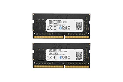DILC RAM Sodimm DDR4 16GB (2x8GB) 2400Mhz PC4-19200 (260 Pin) Single Rank 512x8 Memoria Notebook/Portatile