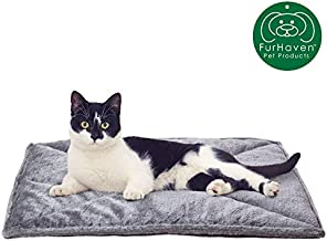Furhaven Pet Dog Bed Heating Pad | ThermaNAP Quilted Faux Fur Insulated Thermal Self-Warming Pet Bed Pad for Dogs & Cats, Gray, Small