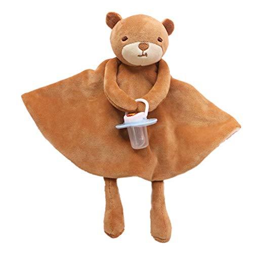 NaiCasy Bambini Comfort Towel Bambola Peluche Elefante Coperta Sonno Appease Asciugamano Dental Molar capezzoli per Neonati (Orsetto), Neonato e Bambino Giocattolo