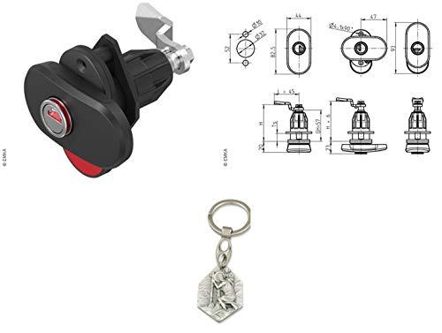 Zisa-Kombi Dreh-Spann-Verschluss Double Red mit zweifachem optischen Öffnungsindikator (932988467390) mit Anhänger Herz Jesu 2,5cm
