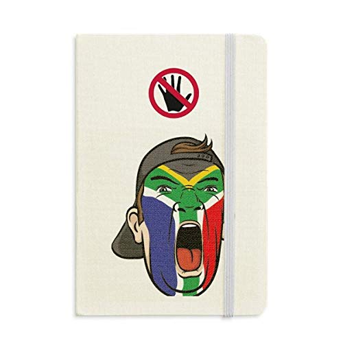 South Africa Flag Facial Makeup Cap Secret Notebook Classic Journal Diary A5