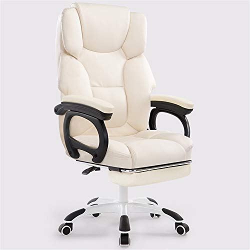 DFMD Bureaustoel, modern, voor thuis, comfortabel, spons, massagestoel, draaistoel, woonkamer, slaapkamer, kantoor, computer, stoel, zwart, roze, melkwit