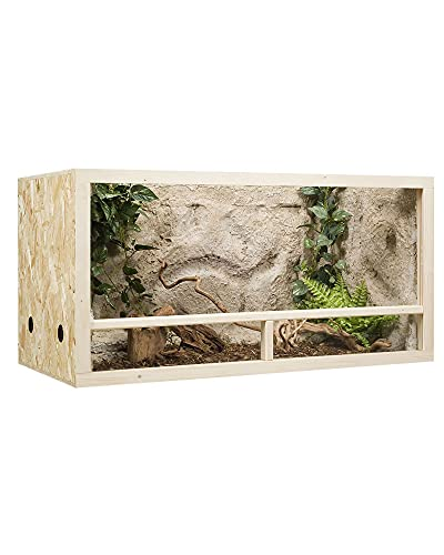 OSB Terrarium, Holzterrarium 120 x 60 x 60 cm mit Seitenbelüftung