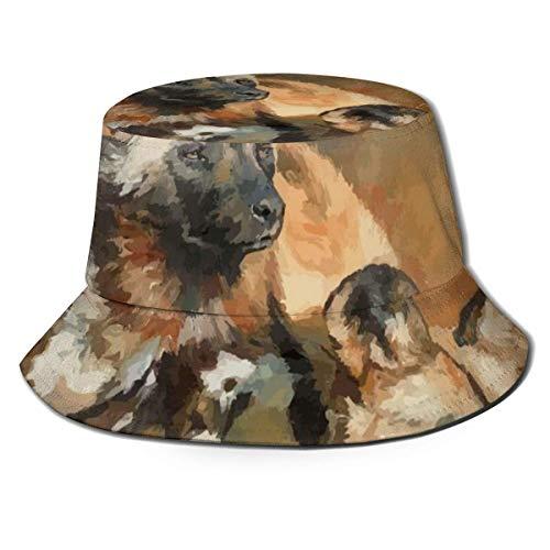 Lawenp Sombrero de Cubo Plegable para Hombre, Perro Salvaje Africano, Verano, Transpirable, Sombrero de Pescador, Sombrero de Caza, Sombrero Boonie para Mujeres y Hombres