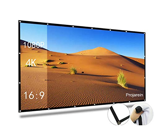 Lowest Prices! Presentation 120'' Projector Screen 16:9 HD Foldable Matte White Fabric for Home Cine...