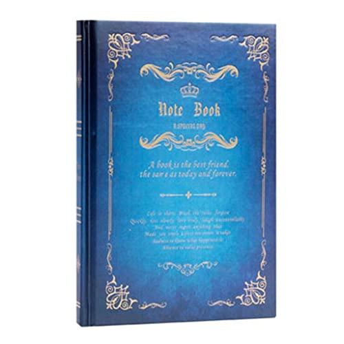 LICHUAN Cuaderno para Trabajos Moda Imitación de Cuero Oficina de Estudiante Diario Diario Retro Estilo Chino Funda Dura 8.3 Pulgadas * 5.7Nich (Color : Light Blue)