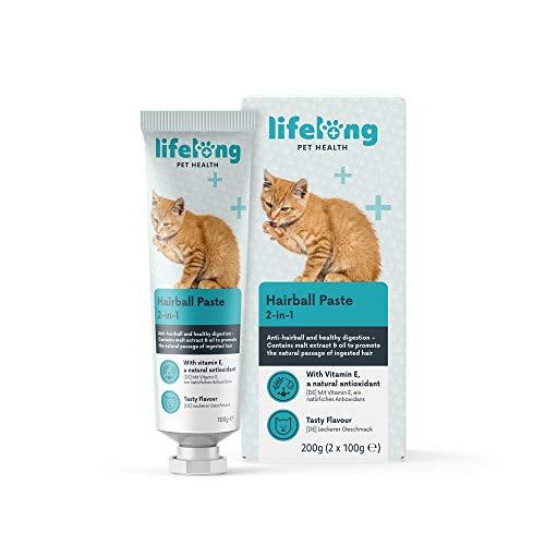 Amazon Brand - Lifelong Pasta per boli di pelo per i gatti, 2 x 100g