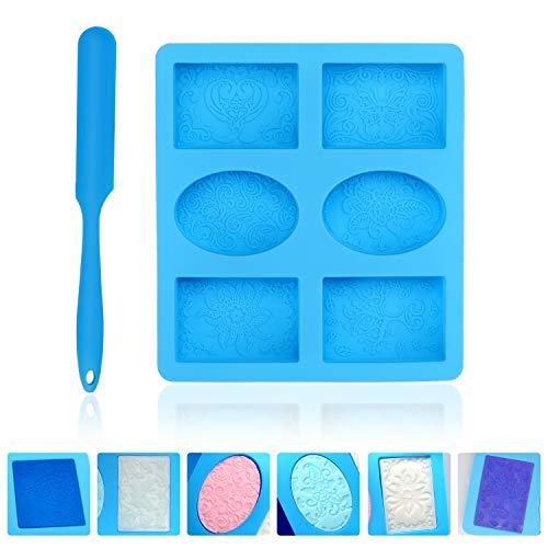 KATELUO Hohlräume Silikonform, Silikon-Seifenform,für Kuchen, Kekse, Schokolade, selbstgemachte Handarbeit, DIY hausgemachte Handwerk