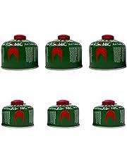 CLEARFEE Gascartouche set met Rsonic schroefdraad en veiligheidsventiel volgens EN417 | schroefventielpatroon | campinggas met butaan-propaanmengsel | gaspatroon voor campingkooktoestellen