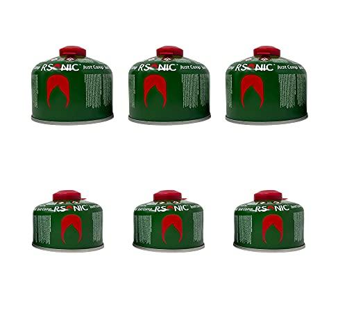 Clearfee Gaskartusche Set mit Rsonic Schraubgewinde und Sicherheitsventil nach EN417 | Schraubventilkartusche | Camping-Gas mit Butan-Propan Gemisch | Gas Kartusche für Campingkocher (3x450g)