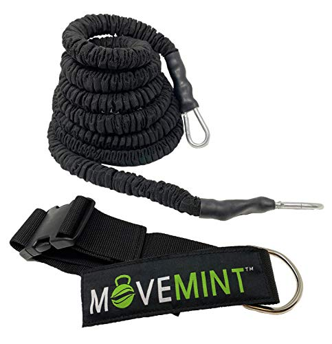 MOVEMINT 33ft Speed Bungee Band Trainer, 115 lbs Resistance (Longest in Market)