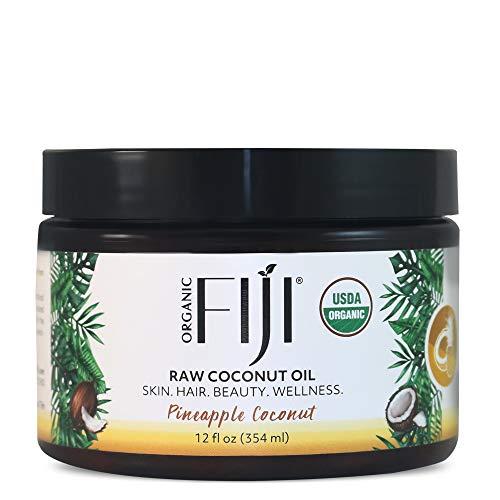 New Organic Fiji Raw Cold Pressed Coconut Oil, Pineapple Coconut, 12oz