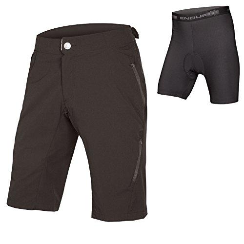 Endura SingleTrack Lite Herren Baggy MTB Shorts II with Liner, Herren, schwarz, X-Large