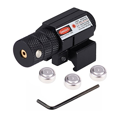 Pinty Compact Tactical Red Laser Sight with Picatinny Mount Alan Wrenches for Hunting - Easy & Bright