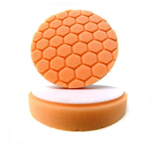 Chemical Guys - BUFX_102HEX6 BUFX_102_HEX6 Hex-Logic Medium-Heavy Cutting Pad, Orange (6.5 Inch Pad made for 6 Inch backing plates)