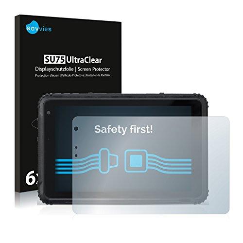 Savvies 6X Schutzfolie kompatibel mit Caterpillar Cat T20 Bildschirmschutz-Folie Ultra-transparent