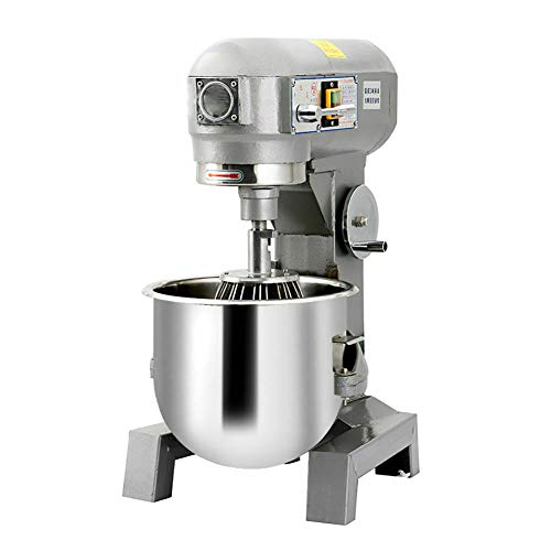 Commercial Dough Mixer 15Qt, 3 Speed Food Mixer, 110V 580W Heavy Duty Stirring Motor, with Stainless Steel Bowl, Dough Hooks, Whisk, Beater