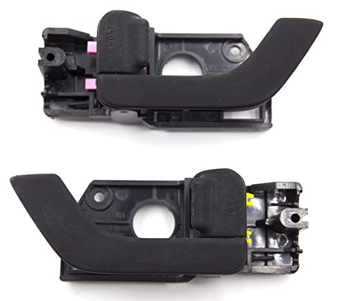 2Pcs Pair Otois Interior Inside Door Handle Left Right Black 826102C000LK 826202C000LK For Hyundai Tiburon Coupe Tuscani 2003 2008