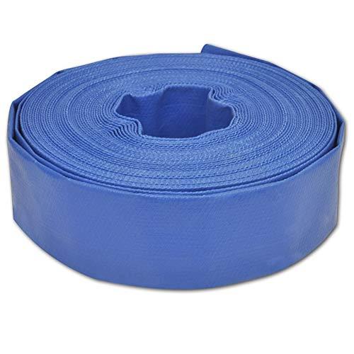 Zerone Manguera Plana, Manguera para Bomba de Agua, Color Azul 50 mm x 25 m