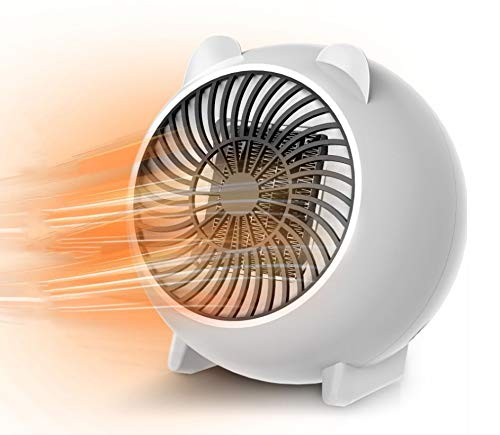 X99 Heizlüfter, Heizlüfter Keramik Energiesparend Elektroheizer Mini 250W, 3s Schnellheitzer mit Automatische Oszillation, Dumping-Stromausfall Abschaltautomatik Überhitzungschutz für Zuhause Büro