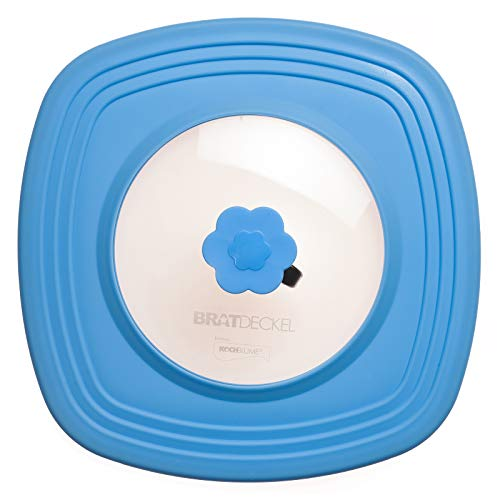 Bratdeckel Quad 33 cm blau