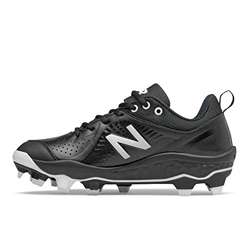 New Balance Women's Fresh Foam Velo V2 TPU Molded Softball Shoe, Black/White, 10.5