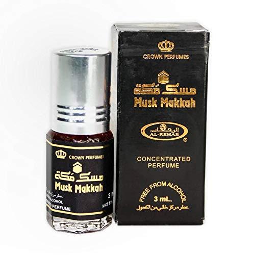 Al Rehab Musk Makkah Huile de parfum à bille sans alcool Halal 6 ml