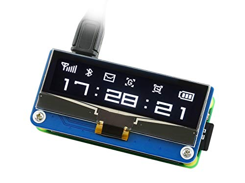 Waveshare 2.23inch OLED Display Hat for Raspberry Pi 128×32 Pixels SPI/I2C Interface with Embedded SSD1305 Driver