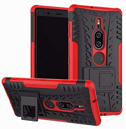 Für Sony XA2Ultra / XA2 / XZ2 / XZ2 Kompaktgehäuse, 2-in-1-TPU-PC-Gehäusehalterungsfunktion Stoßfeste Schutzhülle für Sony L2 / XA1 / XA1plus / XA/XZ/XZS,Rot,SonyXA