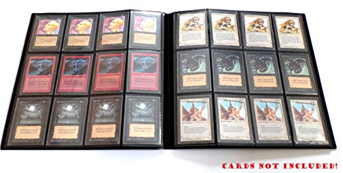 Docsmagic.de Pro-Player 24-Pocket Playset Album Black - 480 Card Binder - Álbum para tarjetas- Magic: The Gathering - Pokemon - Yu-Gi-Oh! - Negra