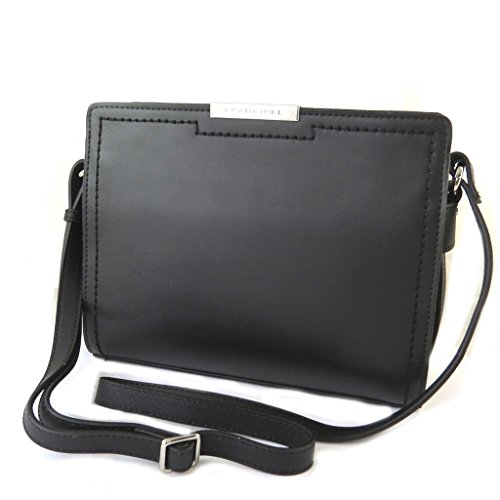 Francinel [N6490] - Designer-Tasche 'Vendôme' schwarz - 25.7x20x7 cm.