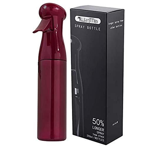 HZL 250ml Spray Bottle Salon Hairdressing Sprayer, Empty Water Sprayer, Portable Spray Bottle, Fine Mist Spray Bottle, Refillable Bottles(Wine Red)