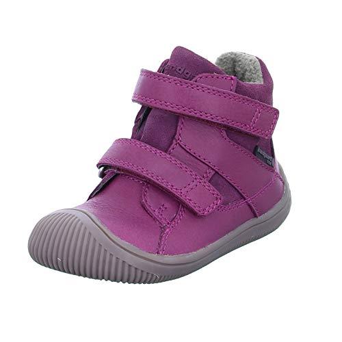 Bundgaard Kinder Stiefel Walk Velcro TEX mit Klettverschluß und Ziernähte Pink (Rosewine) Größe 22 EU