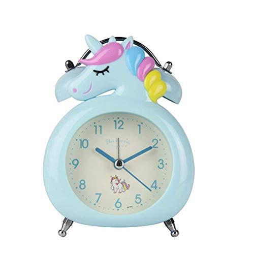 Kawosh Reloj Despertador Unicornio para niños sin tictac Reloj con Pilas para niños con Reloj...