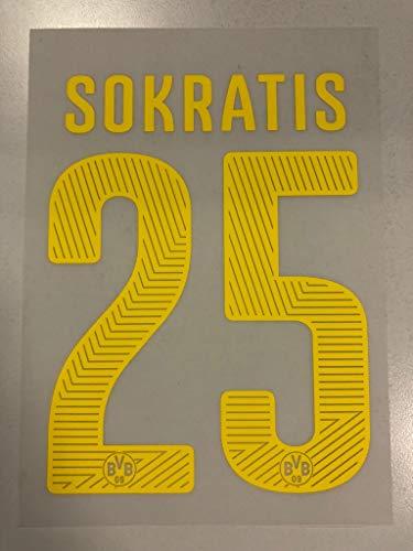 Flock Original BVB Borussia Dortmund Trikot 25cm - SOKRATIS 25