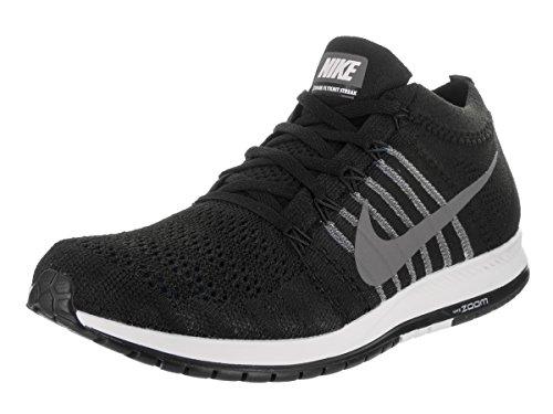Nike Unisex Flyknit Streak Running Shoe (12, Black/Dark Grey/Wht)