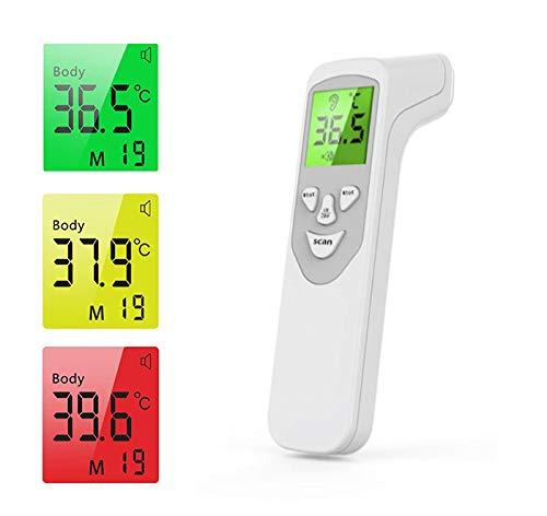 Babify Termometro Infrarojos sin Contacto para adultos y niños 4 en 1 - Medición Ultrarápida y Precisa en personas, objetos y ambiente - Pantalla Retroiluminada